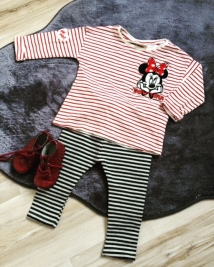 Ensemble rayé Zara - Disney Minnie