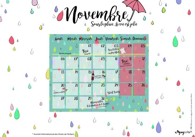 Goodies le calendrier de novembre 2017 b b mymy maman reloo - Calendrier chinois bebe 2017 ...